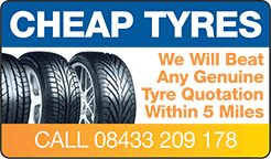 We will beat any genuine tyre quotation within 5 miles